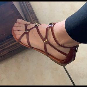 Fergie leather sandals sz 7.5